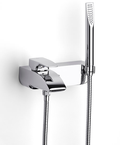 Roca Thesis Chrome Plated Bath Shower Mixer Tap With Kit