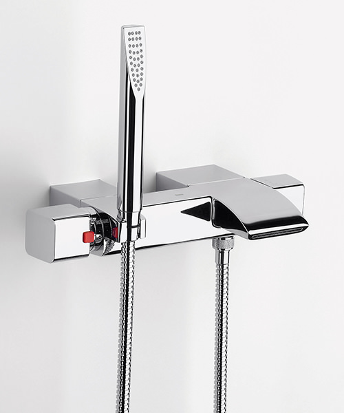 roca thesis t wall mounted bath shower mixer tap with kit