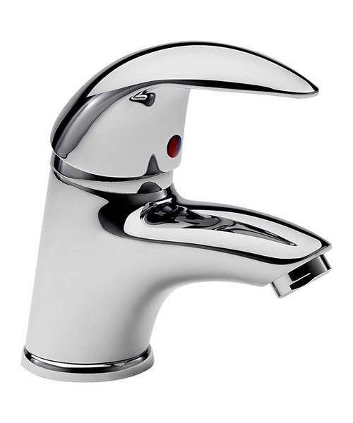 Tre Mercati Novara Mini Mono Basin Mixer Tap With Click Clack Waste
