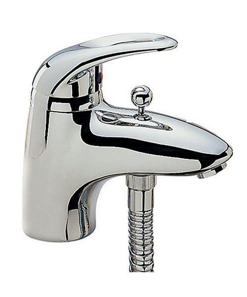 Tre Mercati Latina Chrome Mono Bath Shower Mixer Tap With Shower Kit