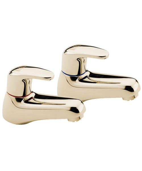 Tre Mercati Modena Antique Gold Pair Of Bath Taps