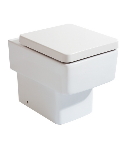 Phoenix Qube 430mm Back To Wall WC With Luxury Soft Close Seat And Cover