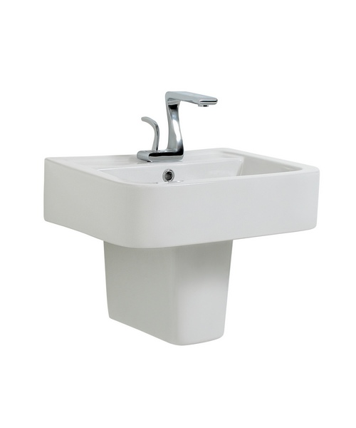 Phoenix MacQ Basin With Semi Pedestal 500mm