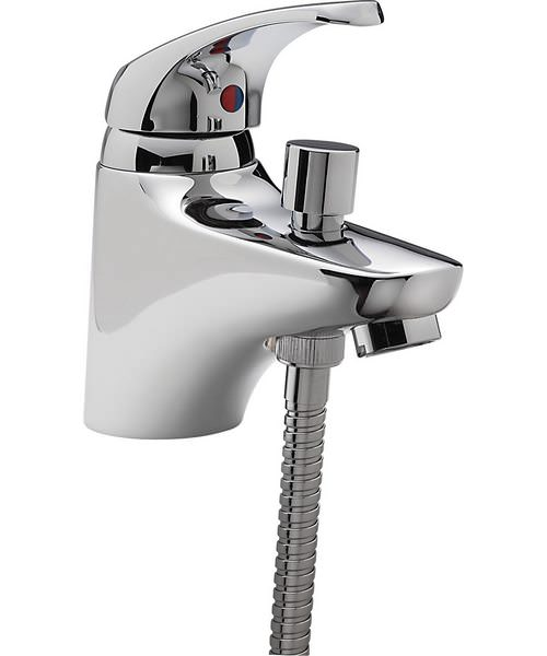 Tre Mercati Modena Chrome Mono Bath Shower Mixer With Kit