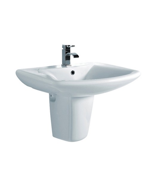 Phoenix Lisa Basin With Semi Pedestal 600mm