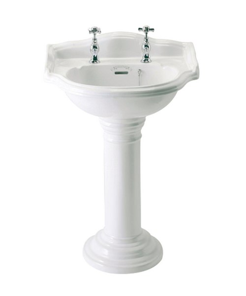 Phoenix Balmoral Cloakroom Basin With Pedestal 530mm