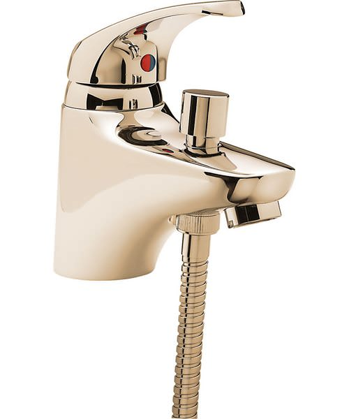 Tre Mercati Modena Gold Mono Bath Shower Mixer With Shower Kit