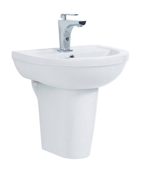 Phoenix Emma 500mm Basin With Semi Pedestal