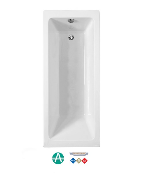 Phoenix Rectangularo 4 Amanzonite Single Ended Bath 1700 x 750mm