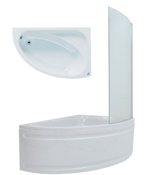 Phoenix Duo Right Hand Bath 1500 x 1000mm With Panel And Screen