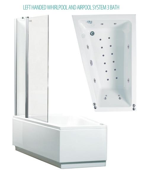Phoenix Taranto System 3 Shower Bath With Screen And Panel