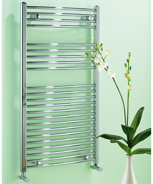 Biasi Dolomite Curved Chrome Heated Towel Rail 600 x 1100mm