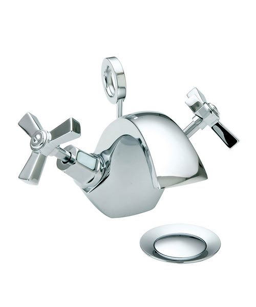 Heritage Gracechurch 1TH Basin Mixer Tap With Chrome Handles