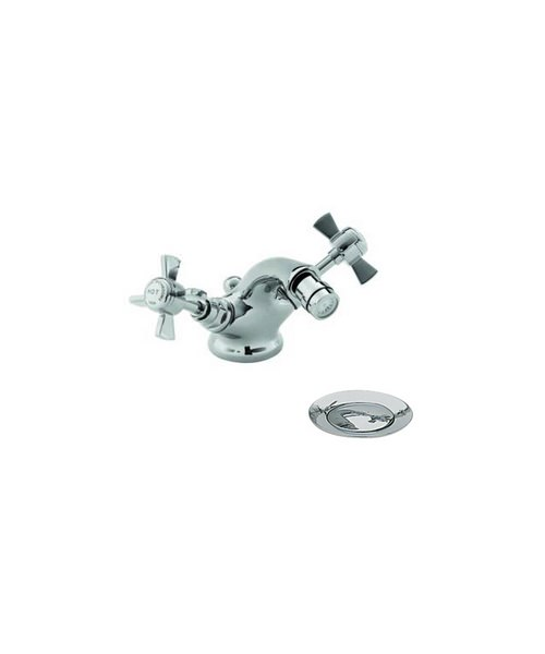 Heritage Dawlish Chrome Bidet Mixer Tap 103mm