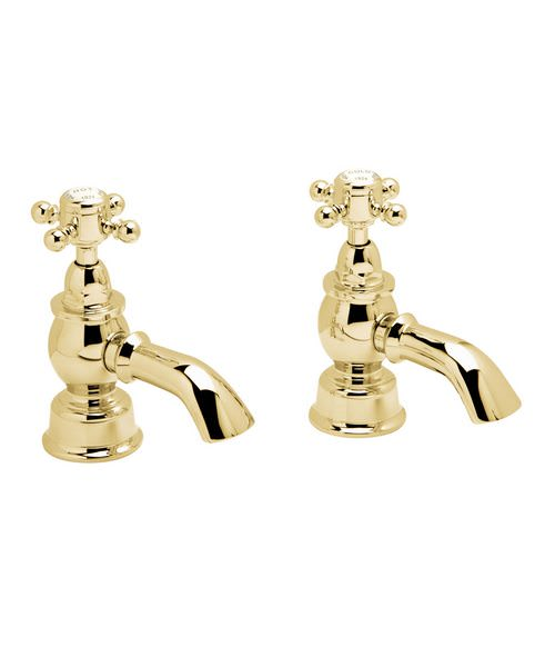 Heritage Hartlebury Vintage Gold Pair Of Bath Pillar Taps