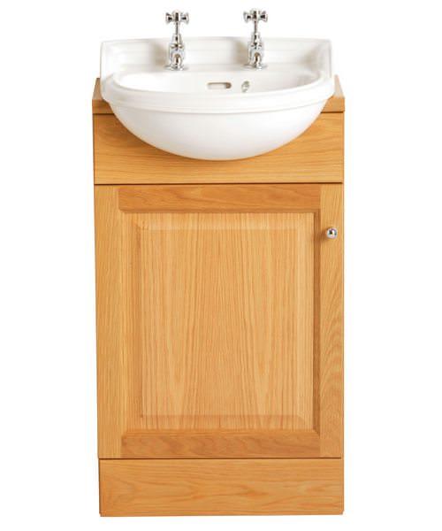 Heritage Dorchester 2 Tap Hole Semi Recessed Cloakroom Basin