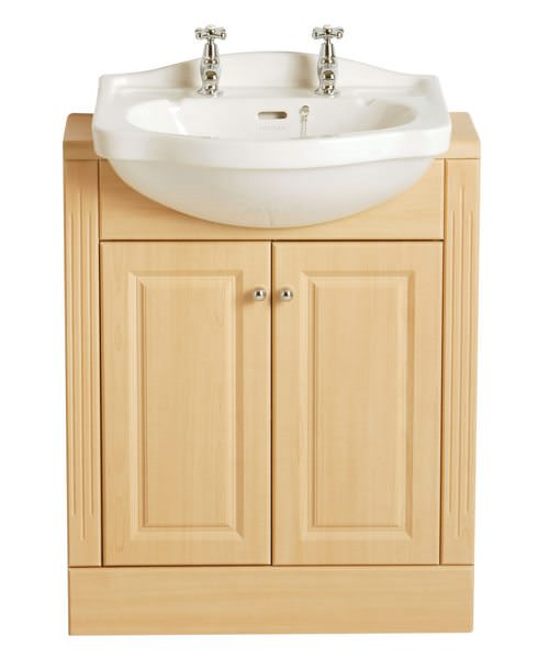 Heritage Rhyland 2 Tap Hole Semi Recessed Basin