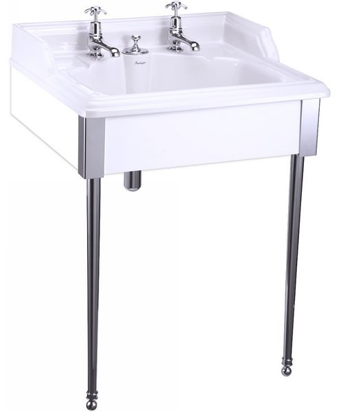 Burlington Classic Chrome Stand And Basin With Invisible Overflow
