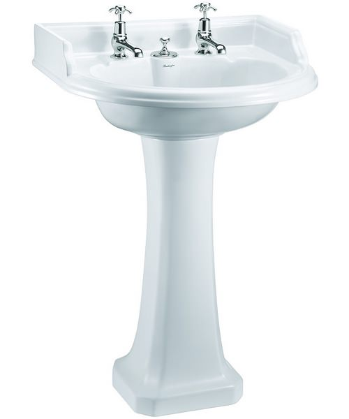 Round Classic Basin With Invisible Overflow And Regal Pedestal