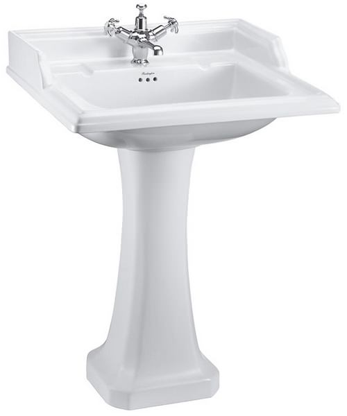 Burlington Classic 650mm Rectangular Basin And Full Pedestal