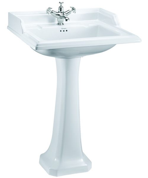 Burlington Classic 1 Tap Hole 650mm Basin With Regal Pedestal