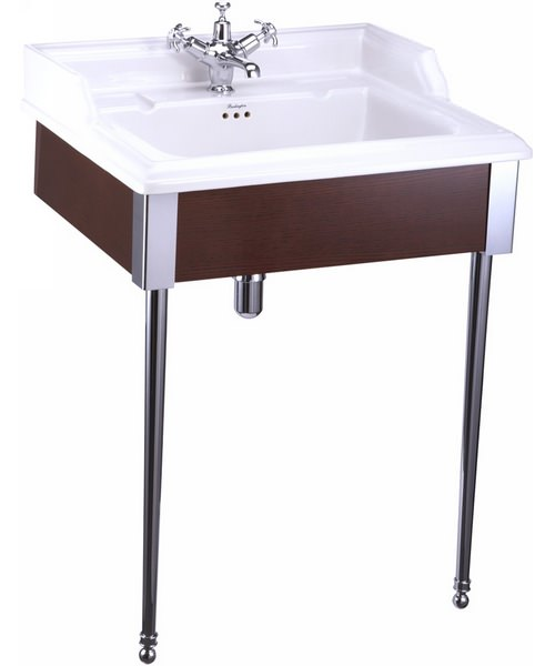 Burlington Classic Basin With Mahogany Designer Stand