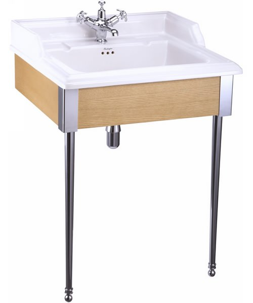 Burlington Classic 650mm Basin With Oak Designer Stand