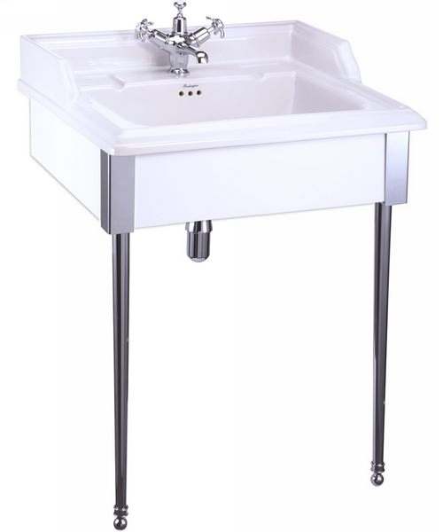 Burlington Classic 650mm Basin With White Designer Stand