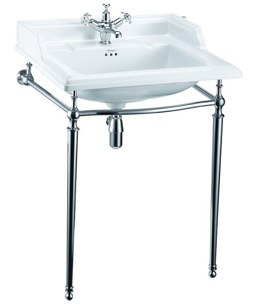 Burlington Classic 650mm Rectangular Basin With Wash Stand