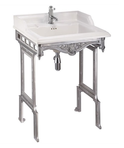 Burlington Classic 650mm Basin And Brushed Aluminium Wash Stand