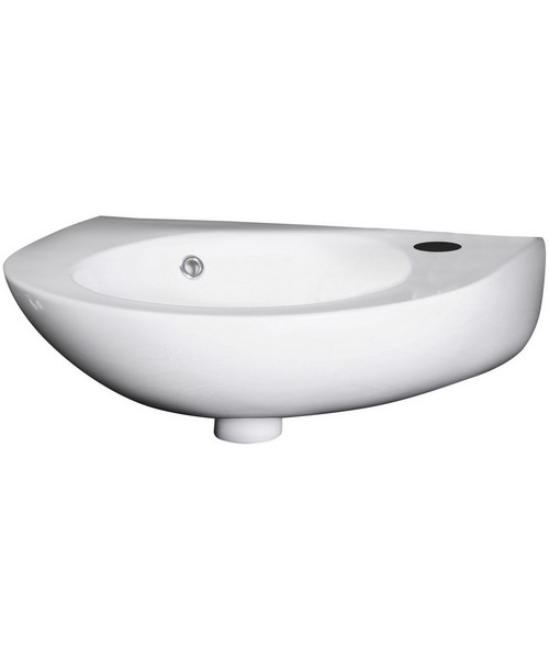 Nuie Premier Brisbane 350 x 280mm Wall Hung Basin With Side Overflow