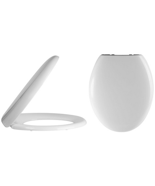 Lauren Standard 380mm Round Soft Close Toilet Seat And Cover