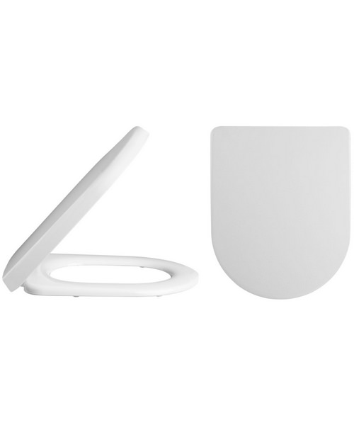 Lauren Luxury D-Shaped Top Fix Soft Close Toilet Seat And Cover