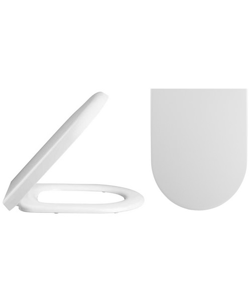Lauren D-Shaped Top Fix Soft Close Toilet Seat And Cover