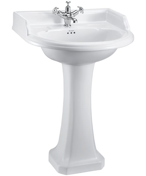 Burlington Round Classic Basin With Regal Pedestal