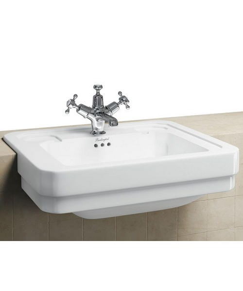Burlington Semi Recessed Basin 580mm