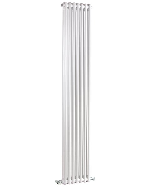 Lauren Regency Double Column 335 x 1800mm White Vertical Designer Radiator