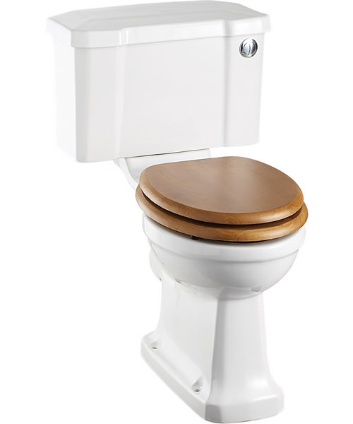 Burlington Close Coupled WC With Front Button Cistern