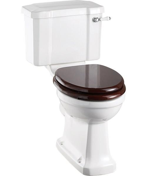 Burlington Close Coupled WC Slimline With Ceramic Lever Cistern