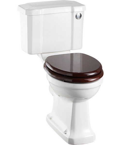 Burlington Close Coupled WC Slimline With Front Button Cistern