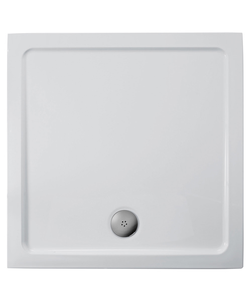 Ideal Standard Idealite 800x800mm Flat Top Shower Tray With Waste