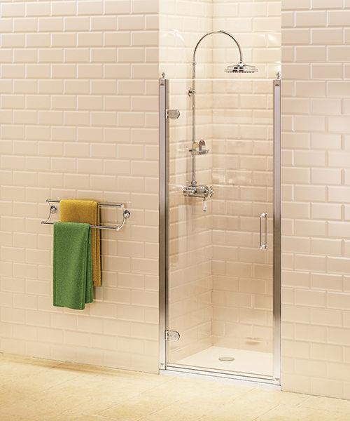 Burlington Hinged Shower Door 760mm