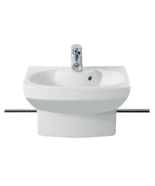 Roca senso compact cloakroom basin with integrated semi for Roca cloakroom basin