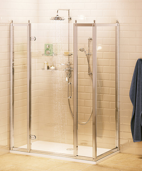 Hinged Door 90cm With In-Line Panel 30cm And Side Panel 80cm