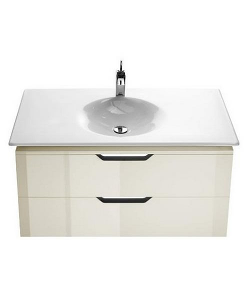 Roca mini textured grey finish cloakroom vanity unit and for Roca kalahari