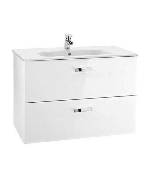 Roca Victoria Basic Unik Basin And Furniture 800mm - Gloss White