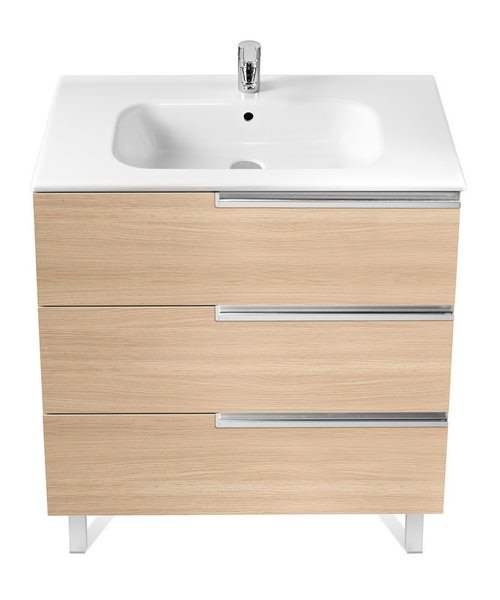 Roca victoria n unik basin and unit with 3 drawers 1000mm for 1000mm kitchen drawer unit