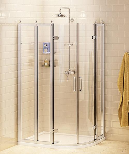 Burlington Offset Quadrant Shower Enclosure 1200 x 900mm
