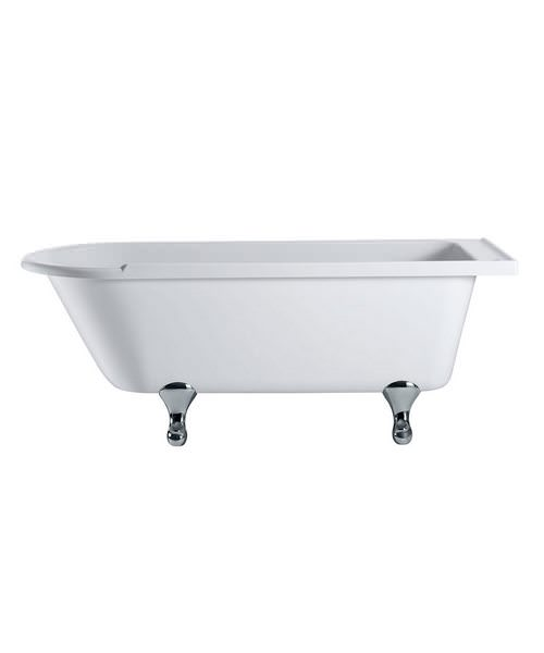 Burlington Hampton Freestanding Bath With Chrome Classical Legs