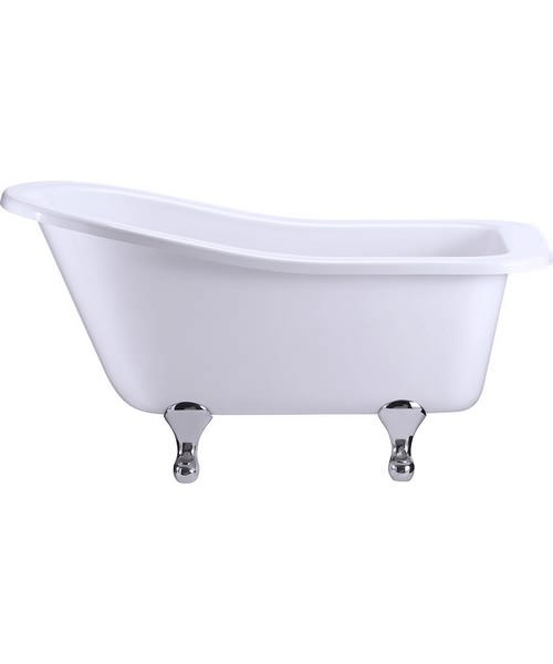 Burlington Buckingham Slipper Bath With Chrome Classical Legs